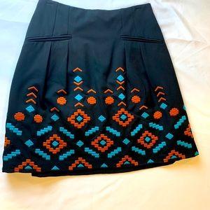 Nanette Lepore Black A Line Skirt Size 8